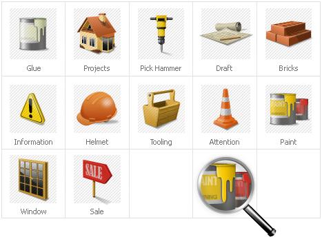Plantilla De Conjunto De Iconos #30972 para Sitio de Gráficos