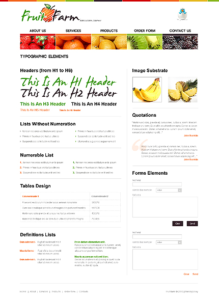 ADOBE Photoshop Template 31052 Home Page Screenshot