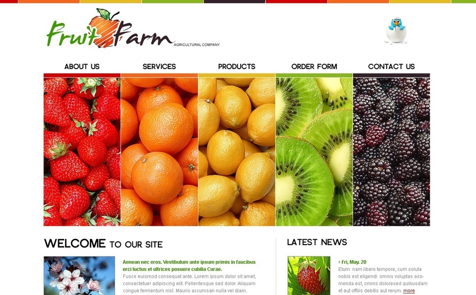 Fruit Templates Psd Şablon New Screenshots BIG