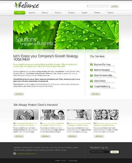 ADOBE Photoshop Template 31053 Home Page Screenshot