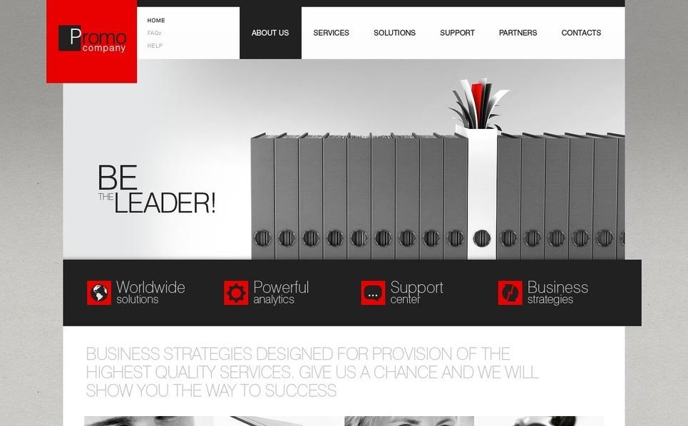 PSD шаблон №31054 на тему Бизнес и услуги New Screenshots BIG