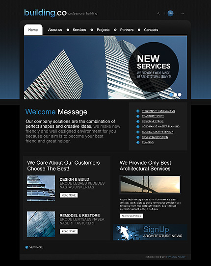 Creare site online firma constructii