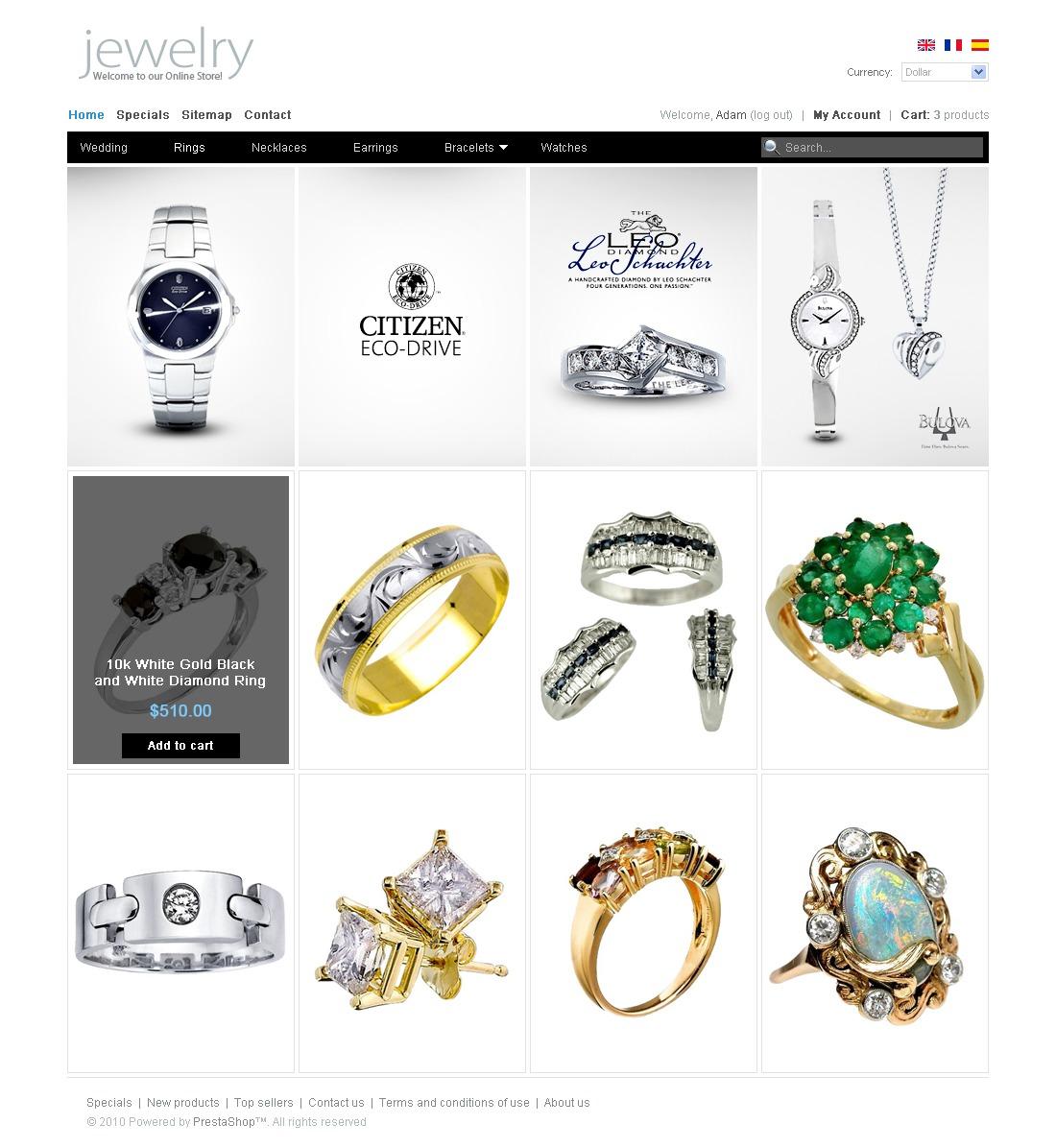 Clean Style Jewelry Prestashop Theme 31021