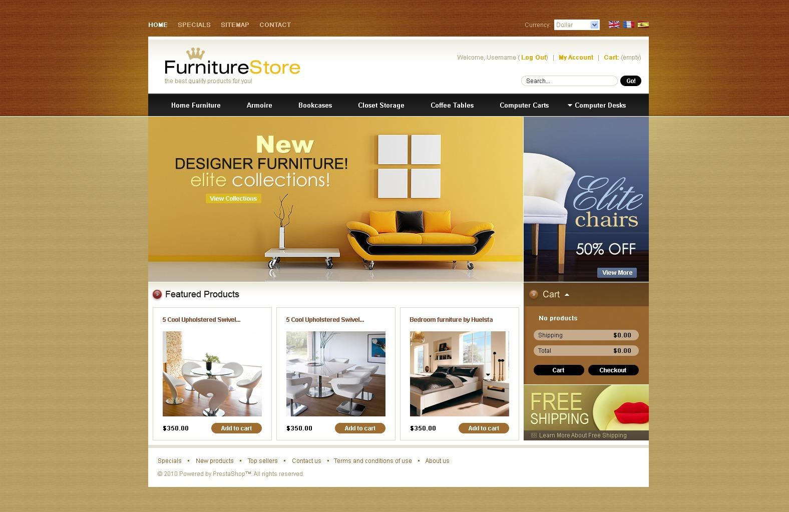 Royal Furniture PrestaShop Theme