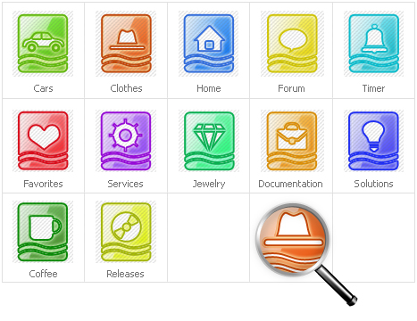 Icon Set Template 31134 Screenshots