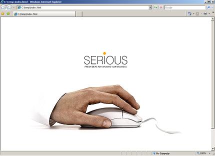 HTML Template 31166 Home Page Screenshot