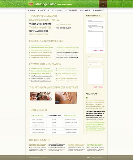 ADOBE Photoshop Template 31170 Home Page Screenshot