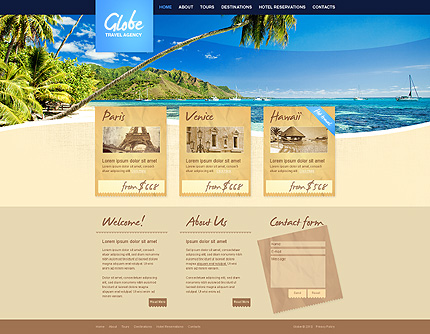 ADOBE Photoshop Template 31173 Home Page Screenshot