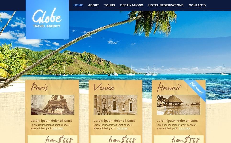 Utazási irodák PSD sablon New Screenshots BIG