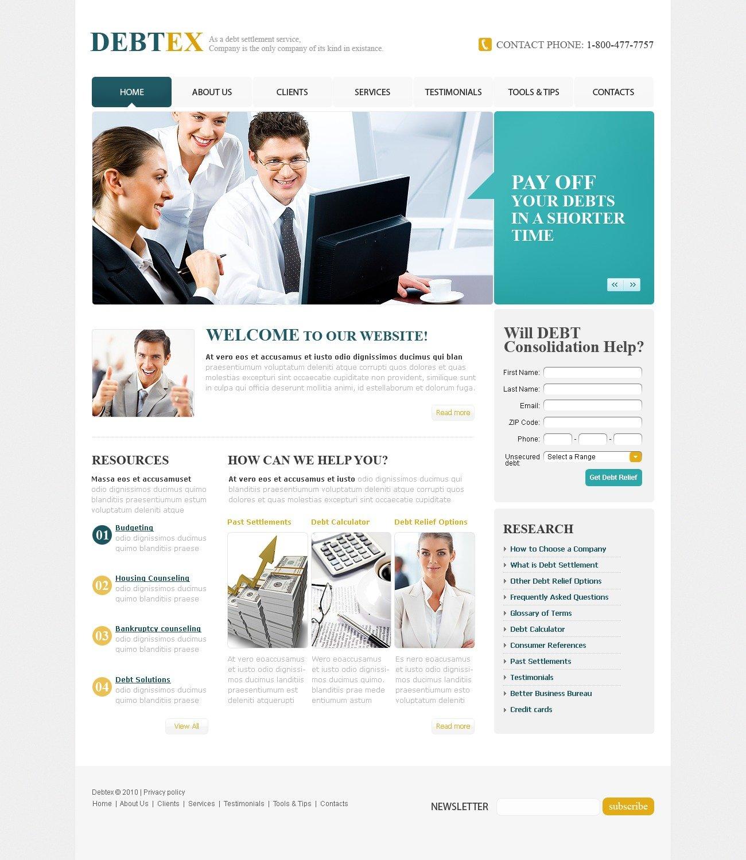Financial Advisor Website Template #31188