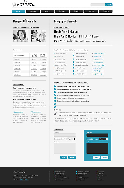 ADOBE Photoshop Template 31248 Home Page Screenshot