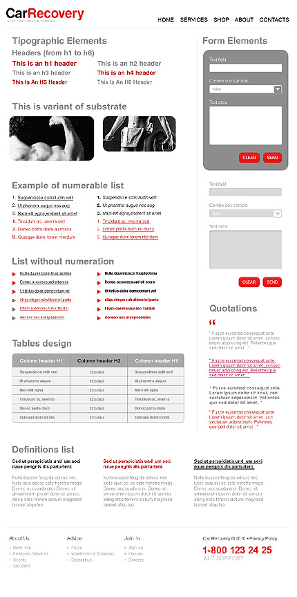 ADOBE Photoshop Template 31251 Home Page Screenshot