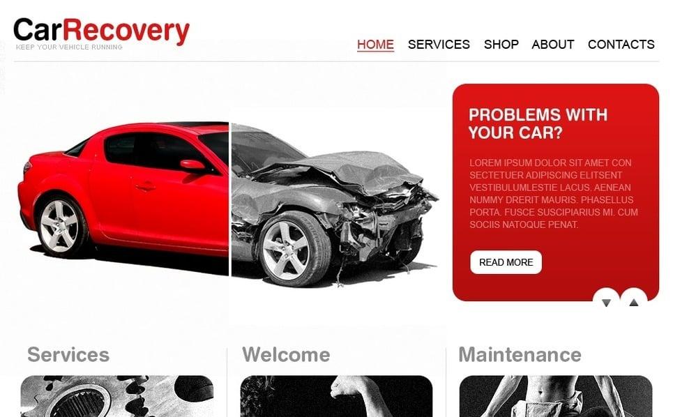 PSD šablona Autoservis New Screenshots BIG