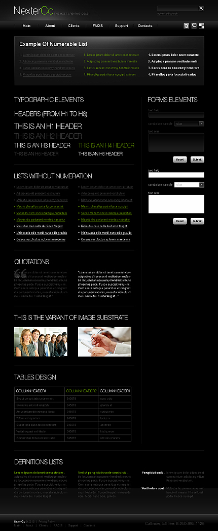 ADOBE Photoshop Template 31252 Home Page Screenshot
