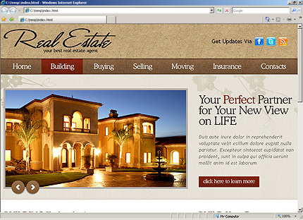 Template 31254 ( Building Page ) HTML Screenshot