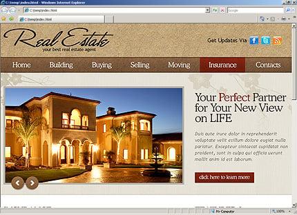 Template 31254 ( Insurance Page ) HTML Screenshot