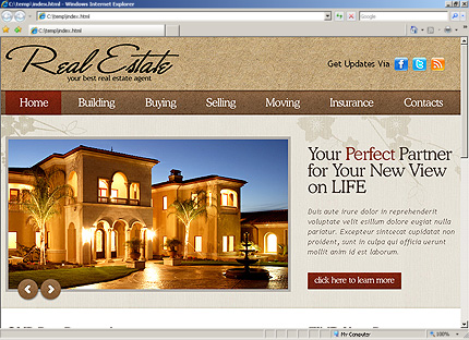 HTML Template 31254 Home Page Screenshot