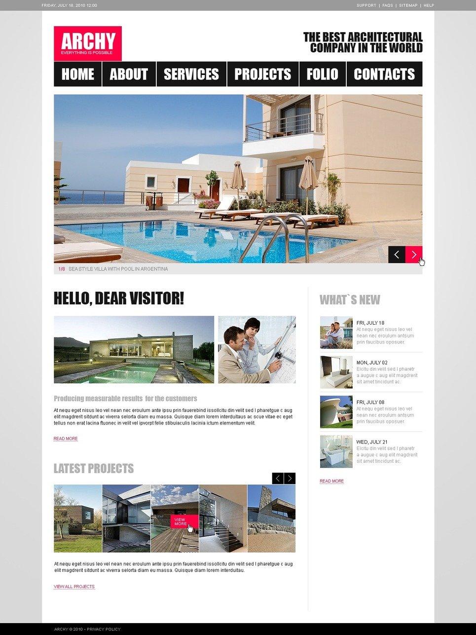 Plantilla web 31257 para sitio de arquitectura for Arquitectura sitio web
