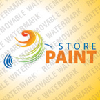 Store Painting Logotype Template (cdr 12 Psd) 31336