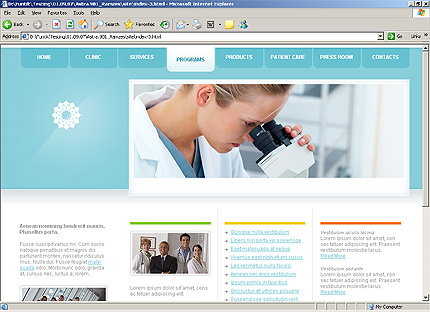 Template 31338 ( Programs Page ) HTML Screenshot