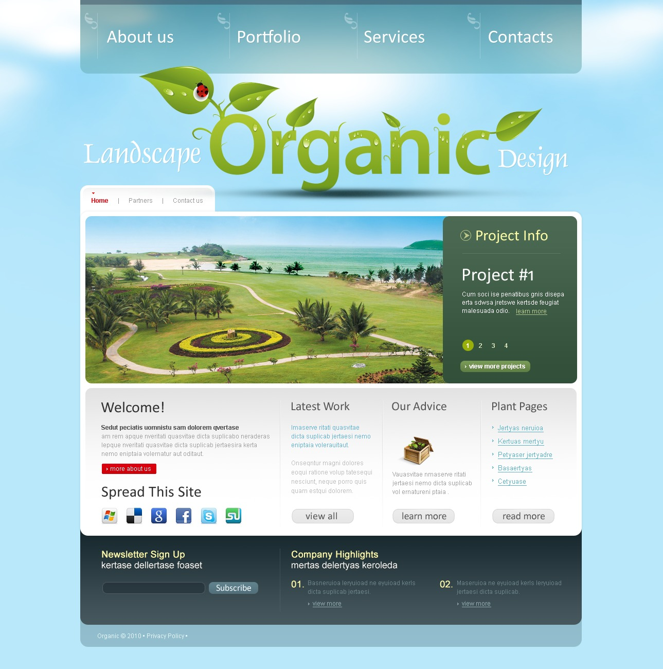Landscape Design Joomla Template - screenshot