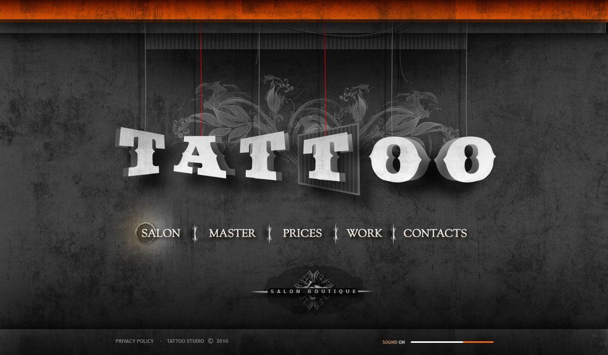 Tattoo Salon Flash Template 31368