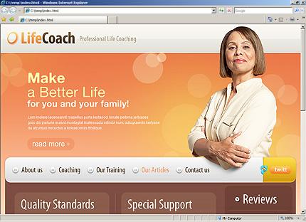 Life Coach Website Template