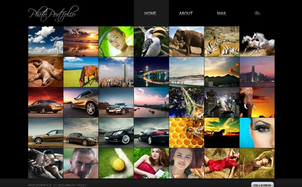 Flash CMS Vorlage für Fotografen Portfolio  New Screenshots BIG