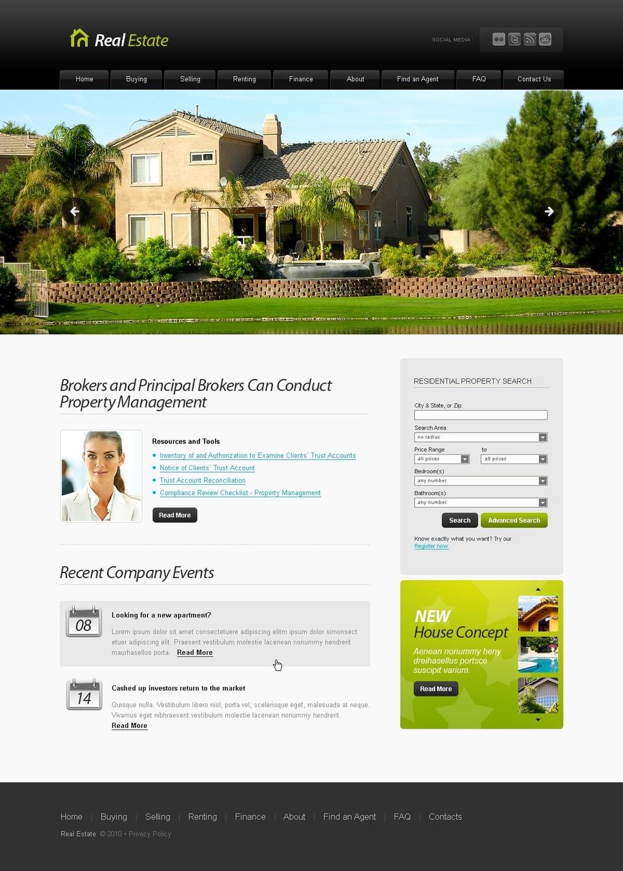 Tema siti web per un sito di agenzia immobiliare for Siti web di home plan
