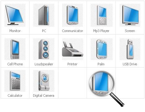 Graphics Iconset Template - screenshot