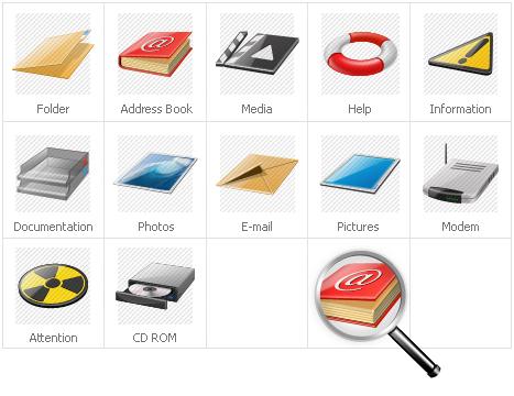 Iconset-mall för Neutral Templates #31424