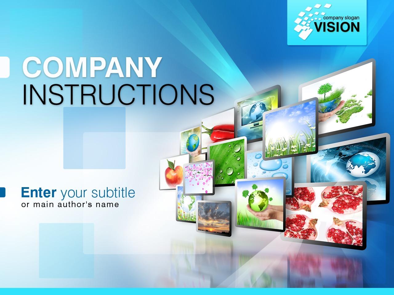 Plantilla PowerPoint #31455 para Sitio de Agencias de publicidad