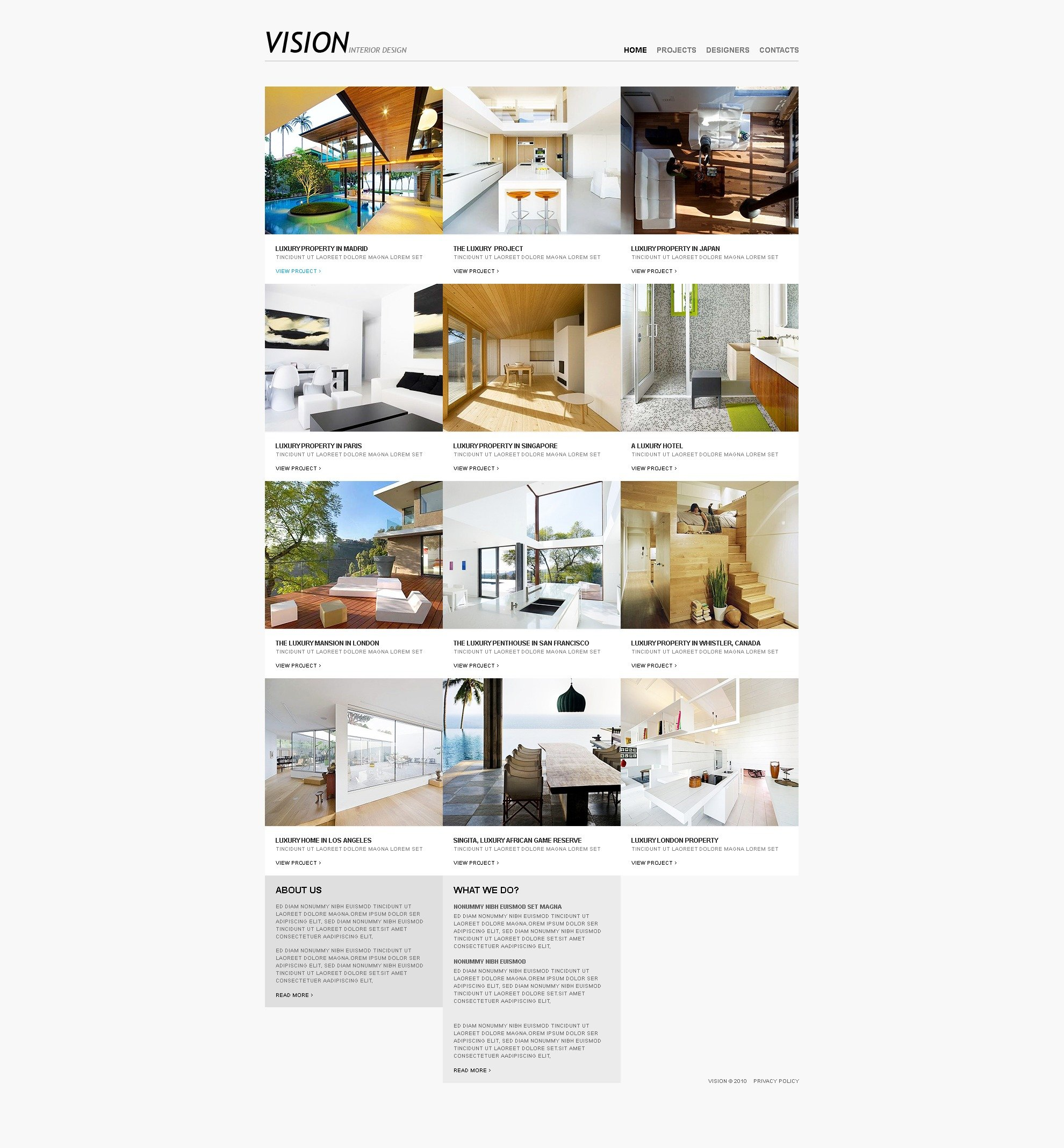 Interior design website template 31558 for Interior design sites