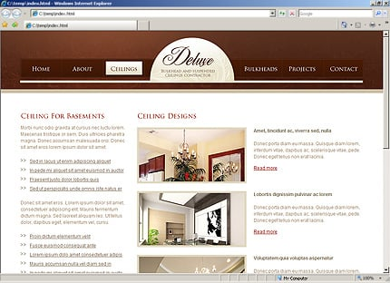 Template 31728 ( Ceilings Page ) HTML Screenshot