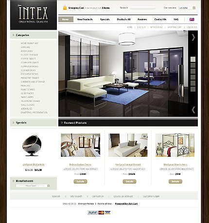 ZenCart Template 31785 Main Page Screenshot
