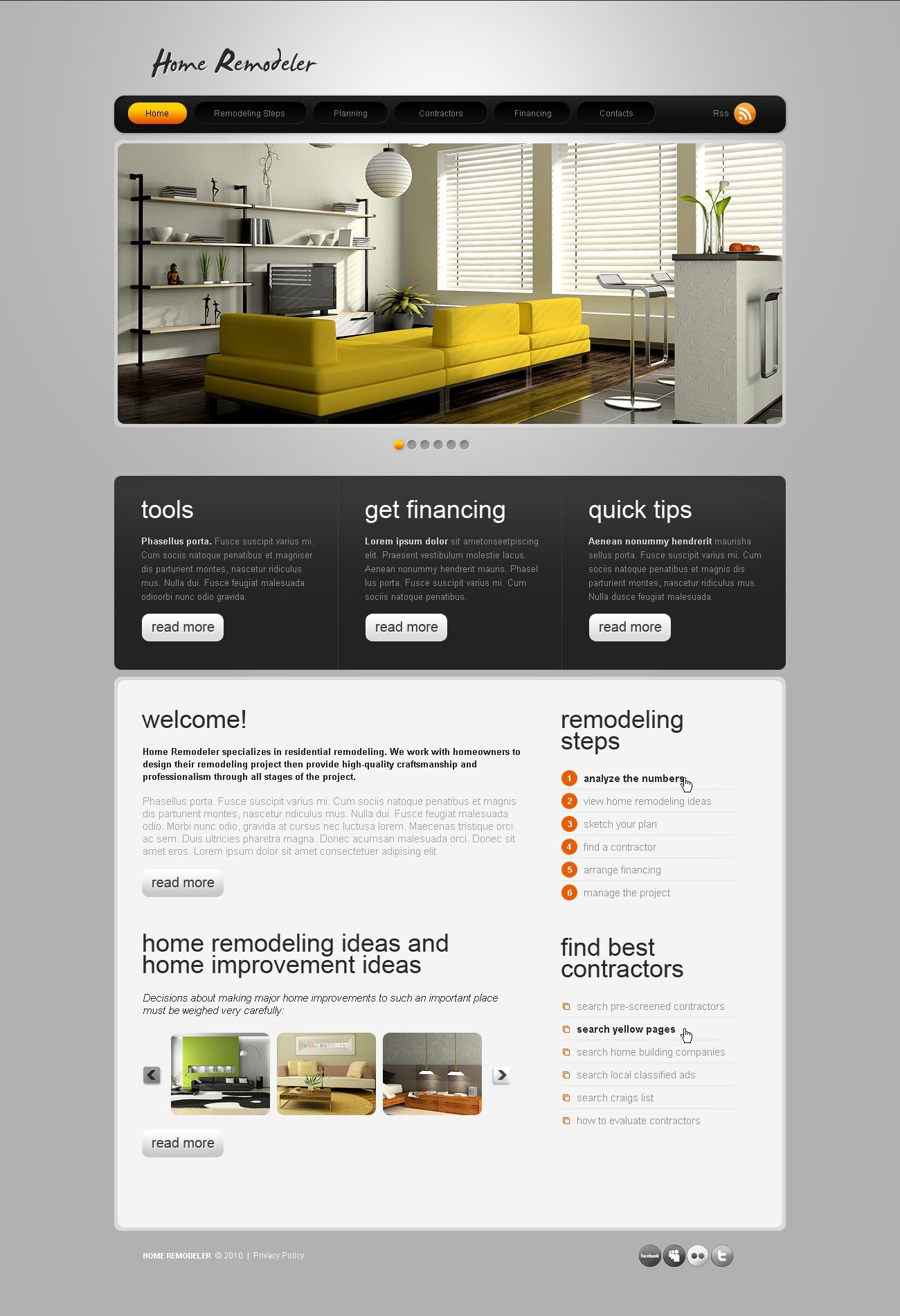 Home Remodeling Website Template #31795