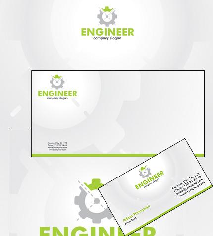 Plantilla de Identidad Corporativa #31749 para Sitio de Ingeniería civil