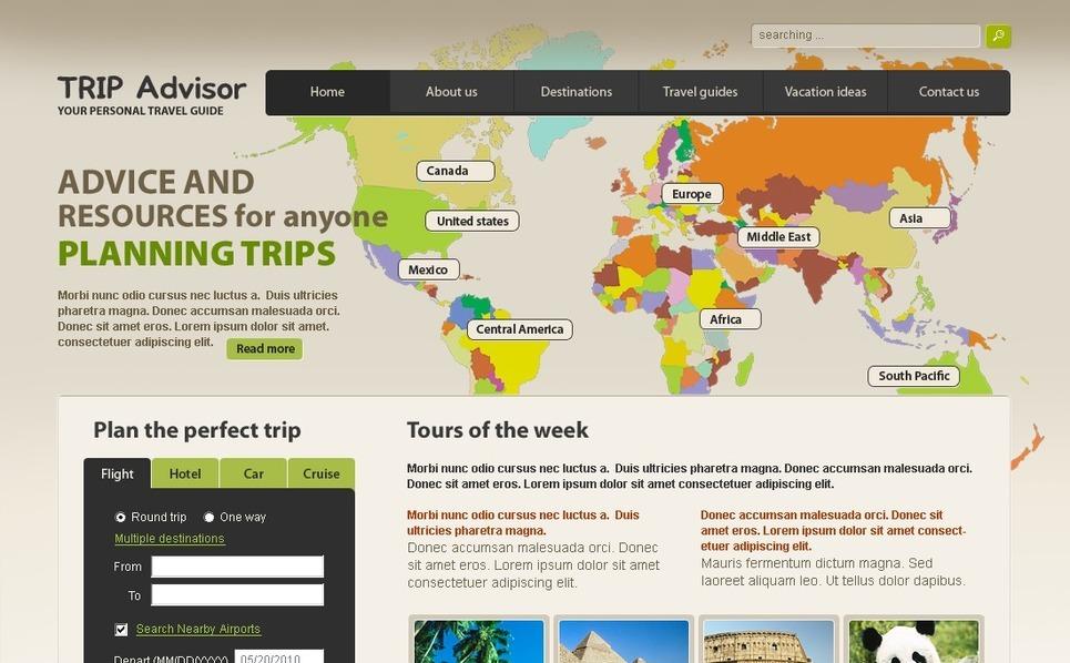PSD Vorlage für Reiseführer  New Screenshots BIG