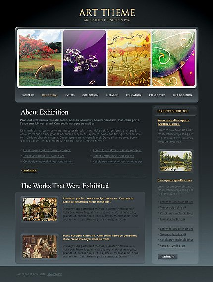Template 31835 ( Exhibitions Page ) ADOBE Photoshop Screenshot