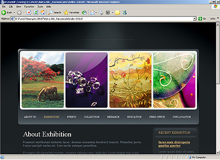 Template 31835 ( Exhibitions Page ) HTML Screenshot