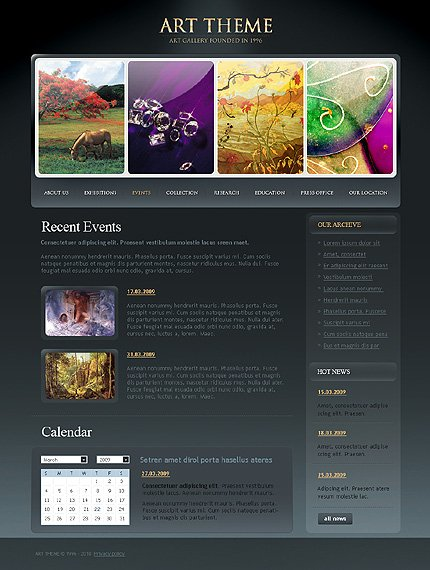 Template 31835 ( Events Page ) ADOBE Photoshop Screenshot