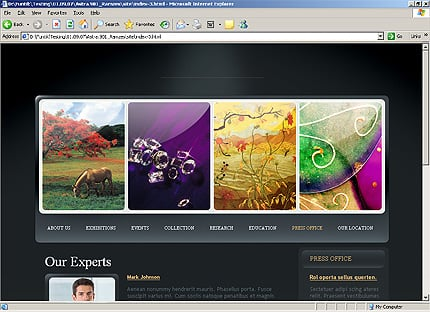 Template 31835 ( Press office Page ) HTML Screenshot