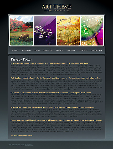 Template 31835 ( Privacy Policy Page ) ADOBE Photoshop Screenshot