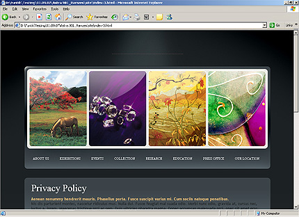 Template 31835 ( Privacy Policy Page ) HTML Screenshot