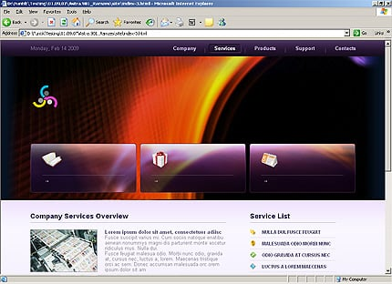 Template 31885 ( Services Page ) HTML Screenshot