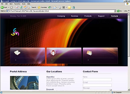 Template 31885 ( Contacts Page ) HTML Screenshot