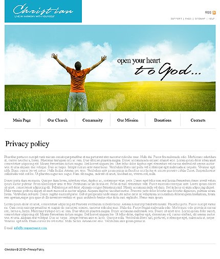 Template 31917 ( Privacy Policy Page ) ADOBE Photoshop Screenshot