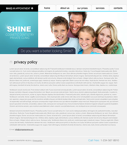 Template 31948 ( Privacy Policy Page ) ADOBE Photoshop Screenshot