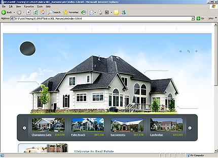 HTML Template 31968 Home Page Screenshot