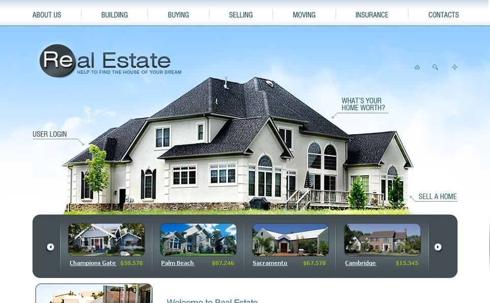 Plantilla SWiSH #31968 para Sitio de Agencia inmobiliaria New Screenshots BIG